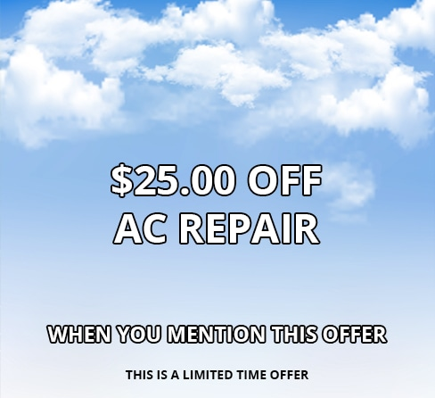 $25.00 Off AC Repair, Limited Time Offer